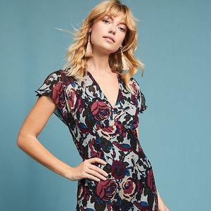 Stunning Anna Sui Aysmmetrical Floral Dress Size 6